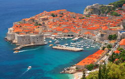 Picturesque gorgeous view on the old town of Dubrovnik, Croatia Royalty Free Stock Image