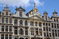 Picturesque Grand Place of Brussels in Belgium stock image