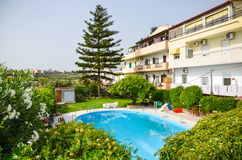 Picturesque Greek hotels Stock Photography