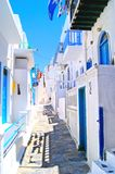 Picturesque Greek lane Stock Photos