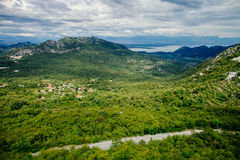 Picturesque green mountain view Royalty Free Stock Photos