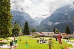 Grindelwald - Switzerland. Jungfrau, panorama. Royalty Free Stock Photo