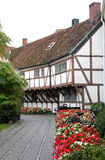 Picturesque half-timbered white house, Ystad, Sweden Stock Photography