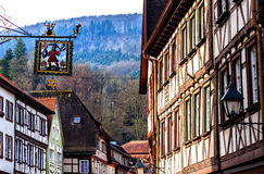 Picturesque historic half-timbered town of Miltenberg, Germany Stock Photo