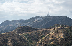 Picturesque Hollywood Hills. Famous tourist attraction of Los Angeles Royalty Free Stock Photos