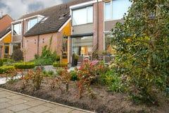 Picturesque house on a city street in Meerkerk, Netherlands Stock Photos