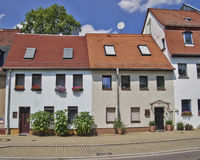 Picturesque house facades,  Germany Royalty Free Stock Photos