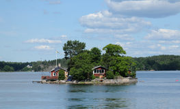 Picturesque house on a little island near Stockholm Stock Photos