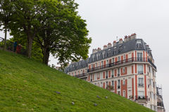 Picturesque house on the Montmartre hill Stock Photo