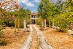 Picturesque house near Ocu in Panama. Royalty Free Stock Photos