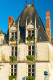Picturesque house on a street in the town of Amboise, France Royalty Free Stock Photos