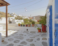 Picturesque house yard with a view Stock Photography