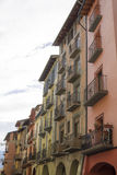 Picturesque houses in the city center of La Seu d'Urgell Stock Photography