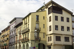 Picturesque houses in the city center of La Seu d'Urgell Royalty Free Stock Photos