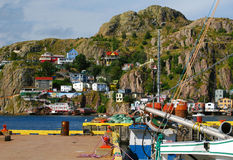 Picturesque houses on a cliff side Royalty Free Stock Images