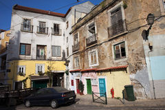 Picturesque Houses in Lisbon Royalty Free Stock Photography