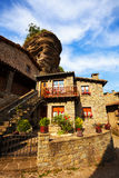 Picturesque houses in medieval  village. Rupit Royalty Free Stock Photography
