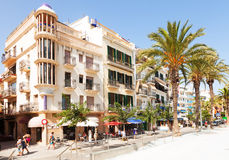Picturesque houses of Mediterranean town. Sitges Stock Photos