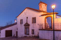 Picturesque houses of the Medieval Village Marvao in Portugal royalty free stock photography