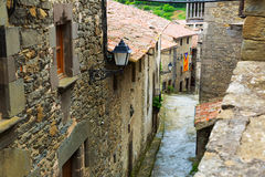 Picturesque houses in mountains village.  Catalonia Royalty Free Stock Photography