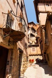 Picturesque  houses  of old spanish town Stock Photography