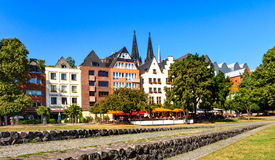 Picturesque houses in the old town in Cologne, Germany Royalty Free Stock Image