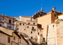 Picturesque houses in spanish city. Chinchilla Royalty Free Stock Image
