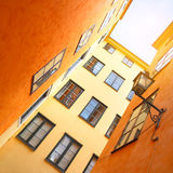 Picturesque houses in Stockholm Royalty Free Stock Images
