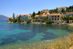 Picturesque Ionian seaside village and cove Royalty Free Stock Photo
