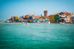 The picturesque island of Burano near Venice, Stock Images