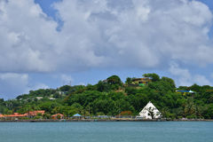 The picturesque island of Saint Lucia in West indies Royalty Free Stock Photos