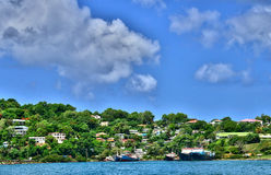 The picturesque island of Saint Lucia in West indies Royalty Free Stock Photo