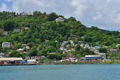 The picturesque island of Saint Lucia in West indies Stock Image
