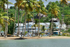 The picturesque island of Saint Lucia in West indies Stock Images