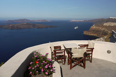 Picturesque island of Santorini Stock Photography