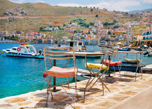 Picturesque island of Symi, Greece Stock Photo