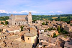 Picturesque Italian hill town Royalty Free Stock Images