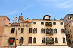 Picturesque Italian house on a background of Church Santa Maria Stock Photography