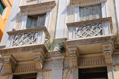 Picturesque Italian house with balconies. Venice Royalty Free Stock Images