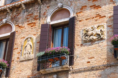 Picturesque Italian house with flowers Royalty Free Stock Image