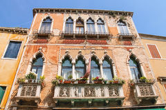 Picturesque Italian house with flowers Stock Photo