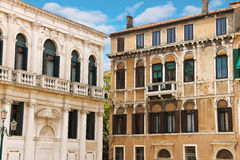 Picturesque Italian house in Venice Stock Images