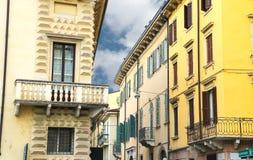 Picturesque Italian houses in Verona, Italy Stock Image