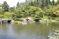 Picturesque Japanese garden Royalty Free Stock Photography
