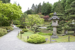 Picturesque Japanese Garden. Beautiful Seattle Japanese in spring time Royalty Free Stock Image
