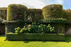 The picturesque Jardins du Manoir d Eyrignac in Dordogne. France stock images