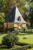 The picturesque Jardins du Manoir d Eyrignac in Dordogne stock photo