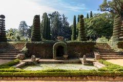 The picturesque Jardins du Manoir d Eyrignac in Dordogne. France royalty free stock images