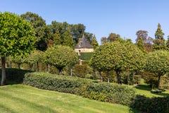 The picturesque Jardins du Manoir d Eyrignac in Dordogne. France stock photography