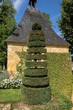 The picturesque Jardins du Manoir d Eyrignac in Dordogne. royalty free stock photography